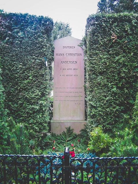 Hans Christian Andersen's grave in Assistens Kirkegård cemetery, Copenhagen