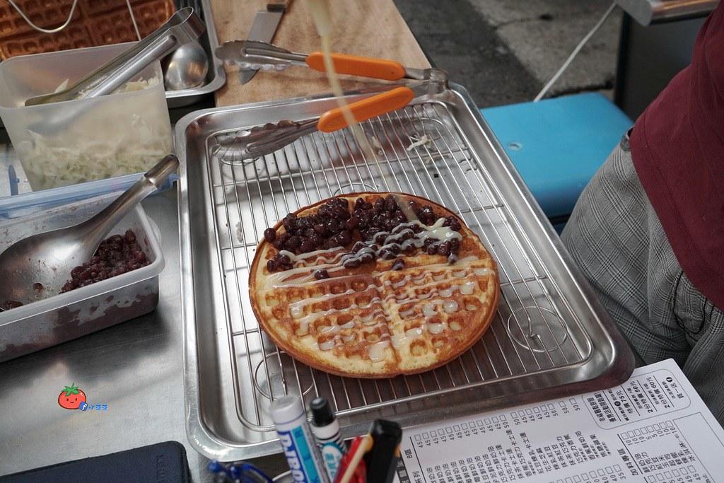 中原夜市平價美食 幸福圓鬆餅 銅板美食