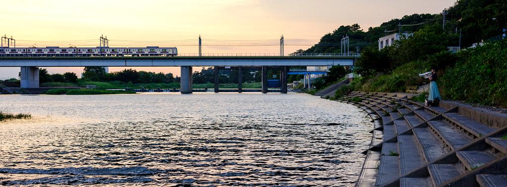 ある日の多摩川