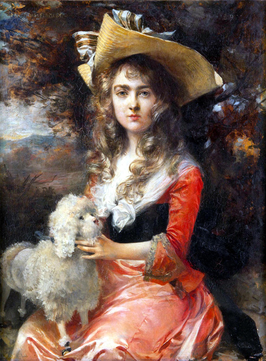 Portrait of Madame Max Decougis by Francois Flameng