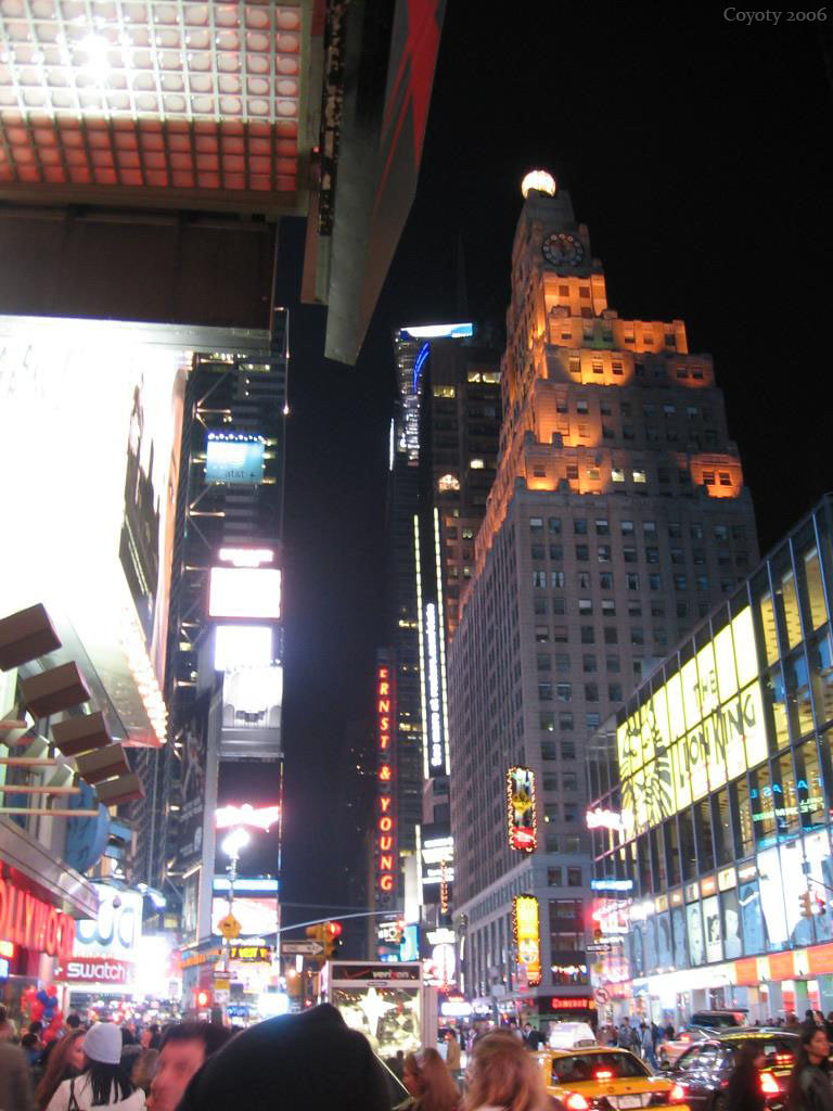 Times Square at Night, Nov. 25, 2006
