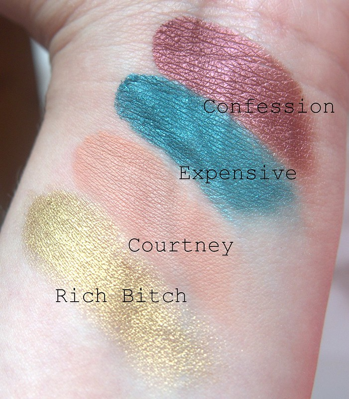 Jeffree Star swatches