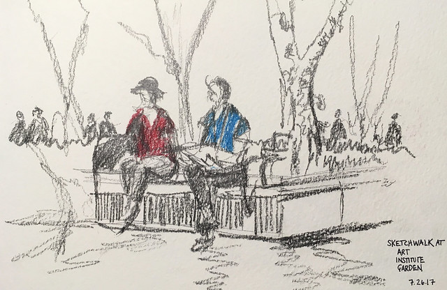 Sketchwalk, Art Institute Gardens, Chicago