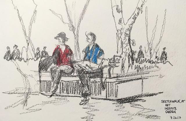 Sketchwalk, Art Institute Gardens, Chicago