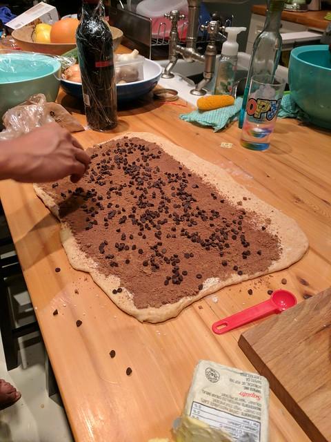 Overnight Chocolate Rolls