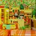 Orange/Yellow/Green Kitchen by raining rita