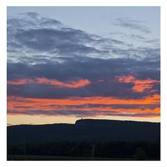 Sunset over Mohonk, Gunks from New Paltz, New York