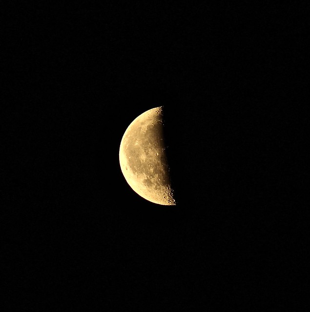 Last Quarter Moon [Explored], Canon EOS 600D, Canon EF 75-300mm f/4-5.6