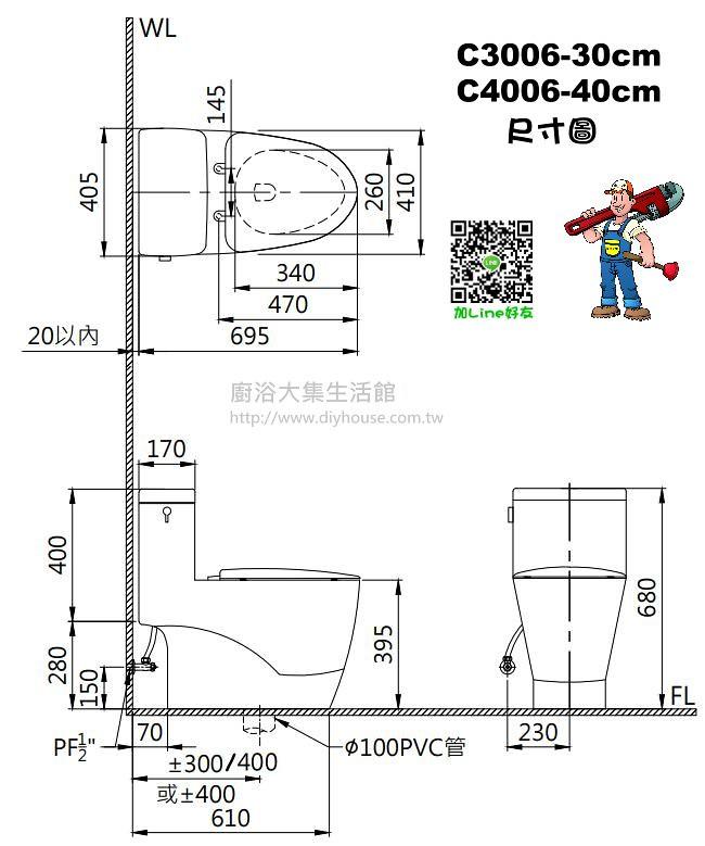 C3006 Size