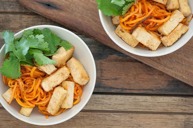 Soy & Honey Tofu with Sweet Potato Noodles-2