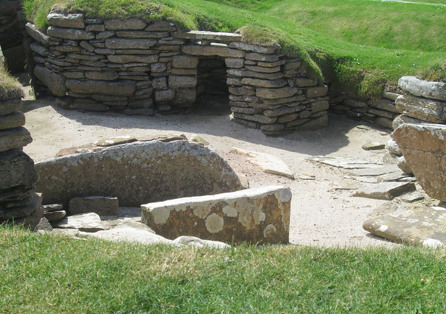 Neolithic Workshop, Skara Brae, from East