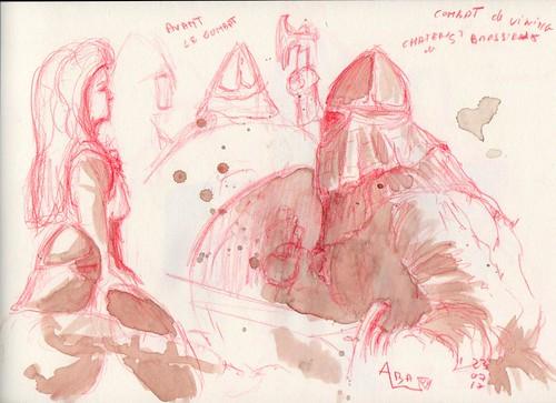 Journées médiévales château de Bressieux - Combat de vicking