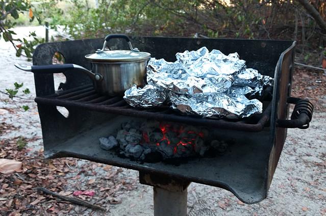 charcoal-fire