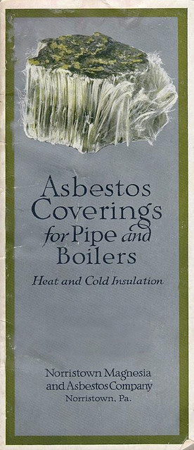 Vintage Asbestos Covering Catalog Cover