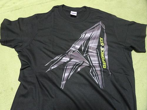 NVIDIAオンエア#2 NVIDIAのTシャツ