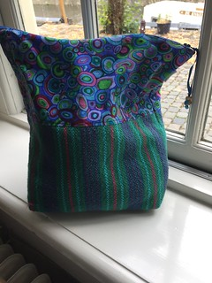 travel knitting project WIP bag
