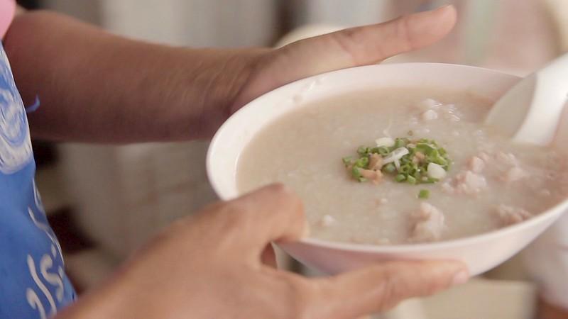 Sweet Soup • Rice Pork Porridge Congee • ข้าวต้มหมู • Songkhla • THAILAND 2