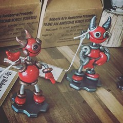 """Repost via @districtatmills: """"So these guys now live at the district waiting for you to give them a home. Also, DIY paint kits for kids. am so excited. I literally staked HerArtSheLoves for a year to get these in the store."""" ??"""