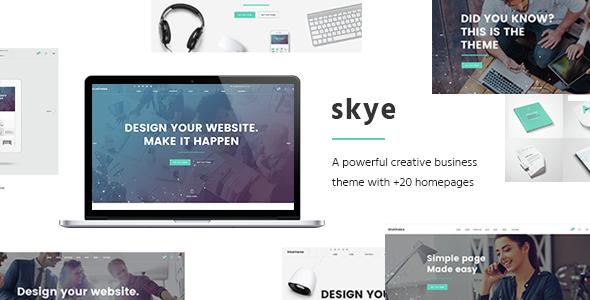 Skye v1.5 – A Contemporary Theme for Creative Business