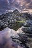 Eyemouth rock pool, Eyemouth, Scotland. by Gary Alexander landscapes
