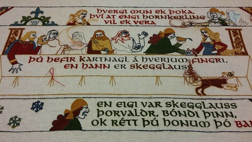 Njals Saga tapestry, at the Saga Center. From Unique Things to See and Do in Iceland