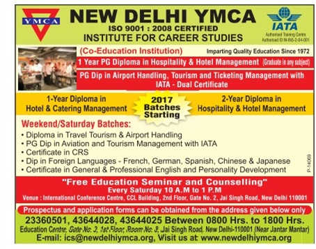 YMCA July Admission 2017