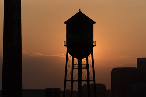 watertanks sunsets richmondvirginiausa silhouettes
