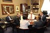 Congressman Pete Sessions and Legislative Director Ryan Ethington meeting with leadership from Dallas Area Rapid Transit