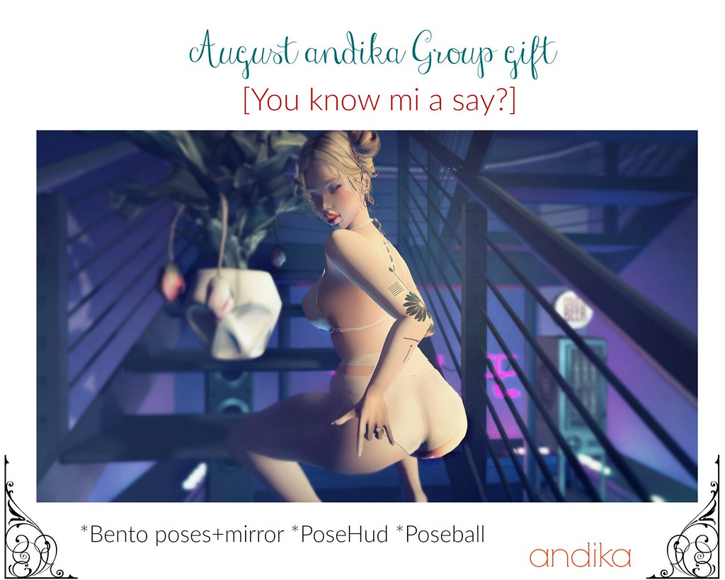 andika August GG[You know mi a say?]bento poses - SecondLifeHub.com