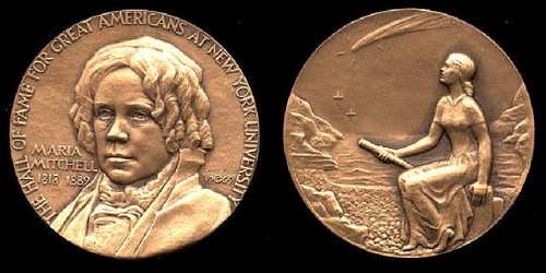 Maria Mitchell Great Americans medal