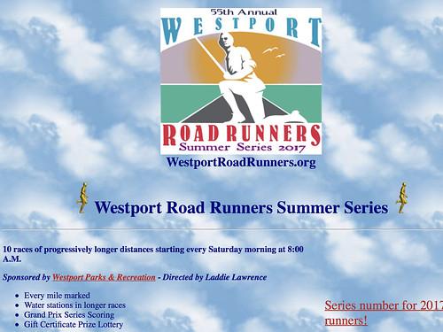 #49 Westport: Westport Road Runners Summer Series 3.8 miler