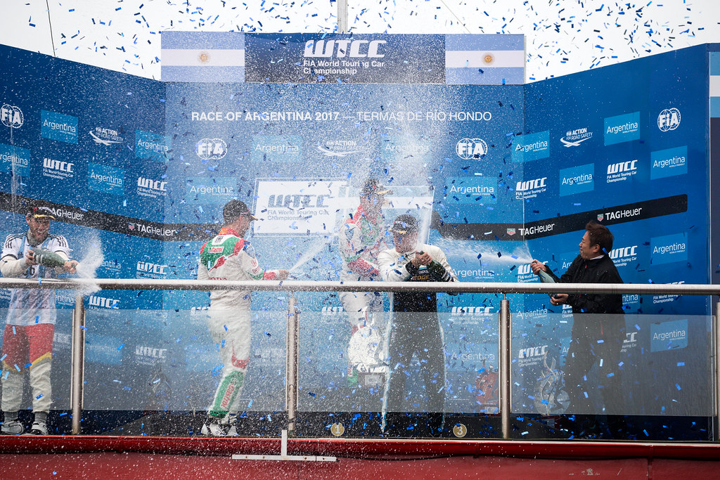 MICHELISZ Norbert (hun) Honda Civic team Castrol Honda WTCC ambiance portrait, MONTEIRO Tiago (prt) Honda Civic team Castrol Honda WTCC ambiance portrait, BJORK Thed (swe) Volvo S60 Polestar team Polestar Cyan Racing ambiance portrait during the 2017 FIA WTCC World Touring Car Race of Argentina at Termas de Rio Hondo, Argentina on july 14 to 16 - Photo Alexandre Guillaumot / DPPI