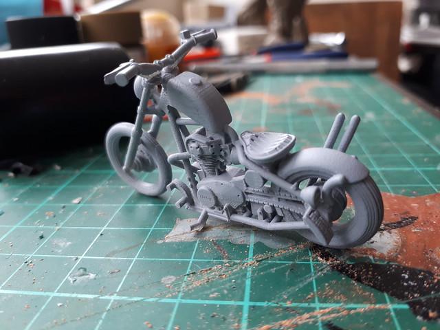 3D printed stuff 1:35th Yamaha chopper