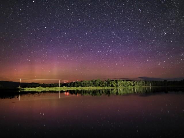 Northern Lights at Pontook Reservoir