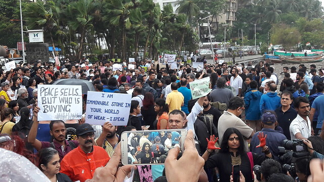 #NoTInMyName Protest at Carter Road, Mumbai, 28 June 2017