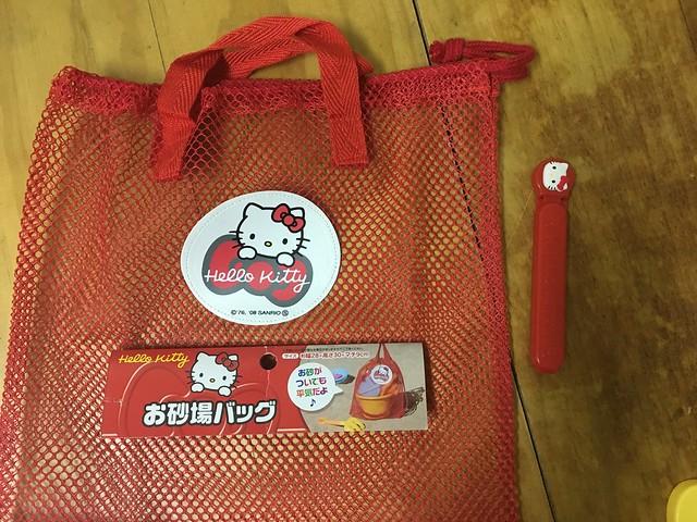 Hello Kitty海灘玩具收納袋與密封夾@大創嬰幼兒用品