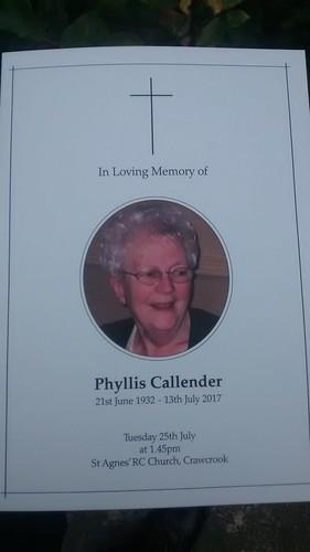 Phyllis Callender July 17