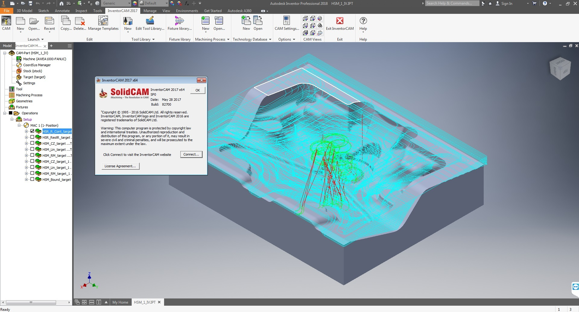 Working with InventorCAM 2017 SP0 for Autodesk Inventor x64