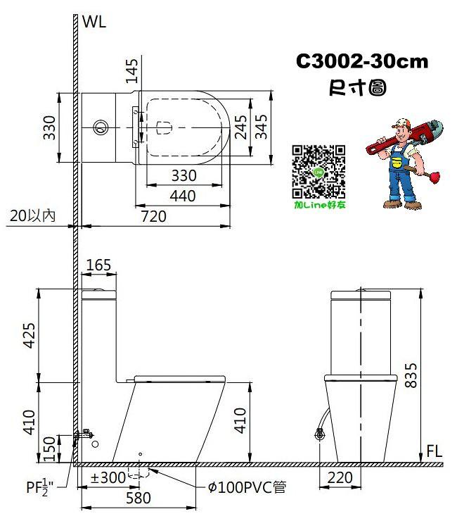 C3002 Size