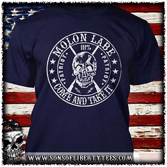 Molon Labe. Come and Take. Skull. T-Shirt.