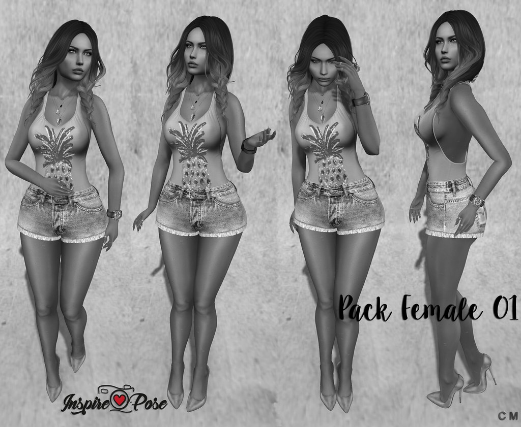 Inspire Pose - Pack Female 01 - SecondLifeHub.com