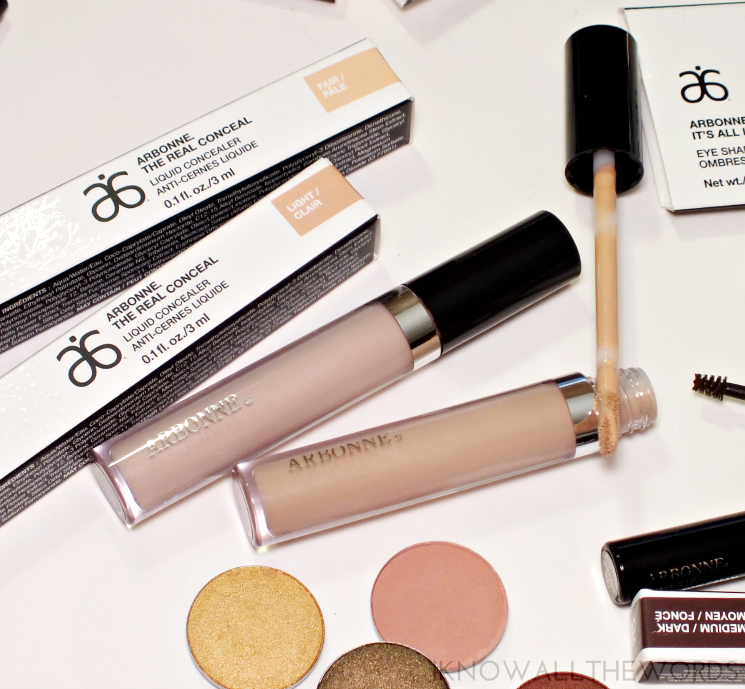 arbonne real conceal liquid concealer fair light