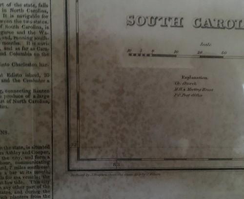 Carey & Lea 1822 South Carolina Map details