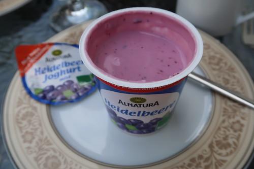 Joghurt Heidelbeere (von Alnatura)