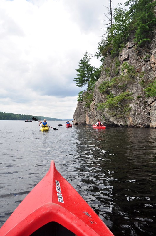 Solo kayak at Bon Echo Provincial Park