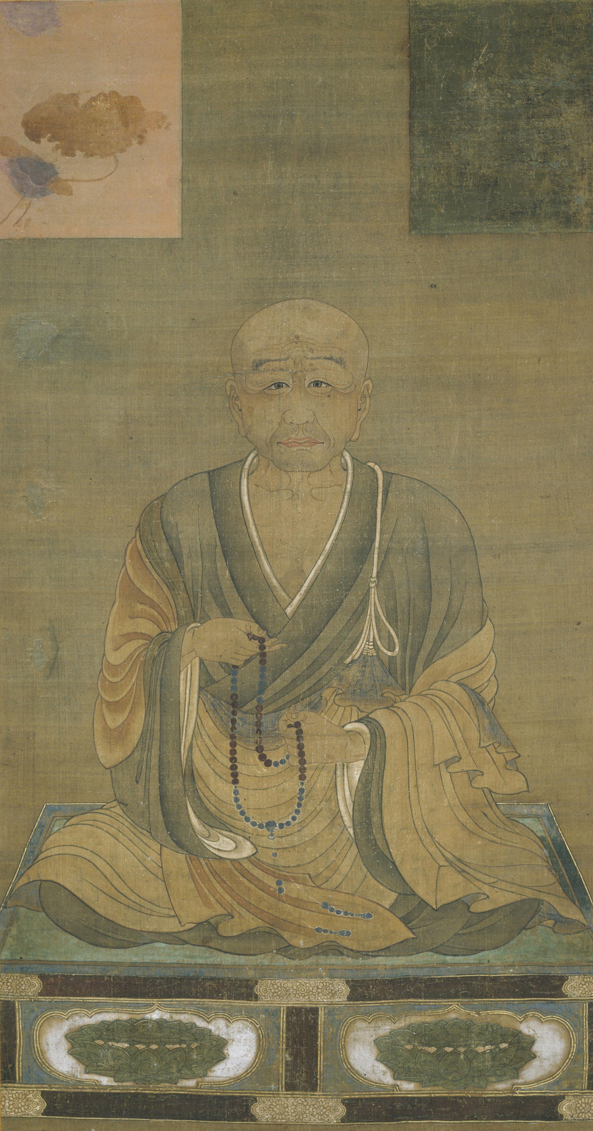 《恵心僧都源信坐像》(江戸時代、奈良・阿日寺)