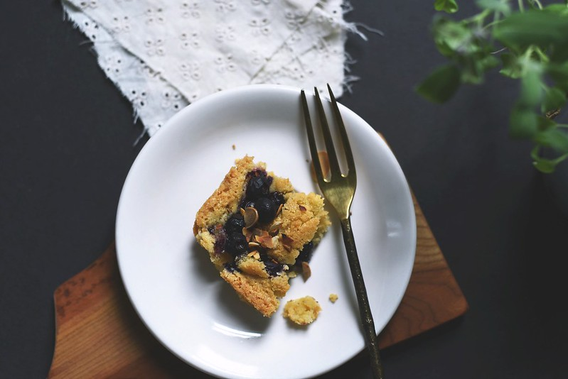 Blueberry Almond Blondies
