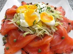 Rösti-Waffles, Gravlax And Poached Egg