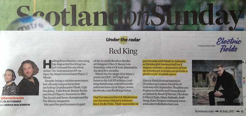 Scotland On Sunday, 16 July 2017, Red King