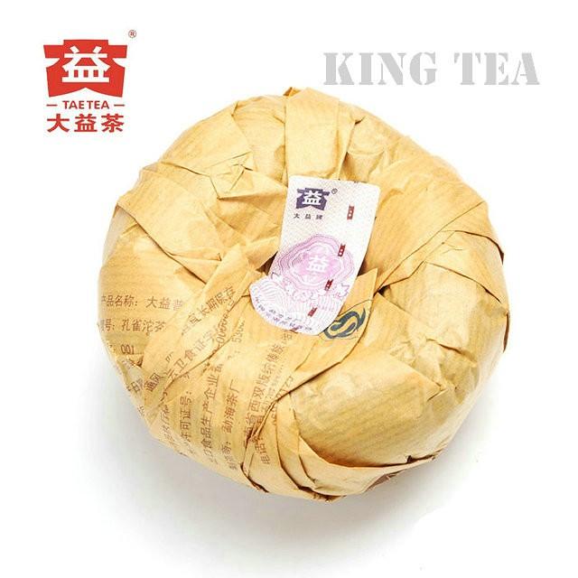 Free Shipping 2010 TAE TEA DaYi Peacock Tuo Bowl 250g YunNan MengHai Organic Pu'er Pu'erh Puerh Raw Tea Sheng Cha